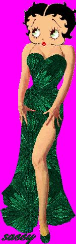 betty boop green dress
