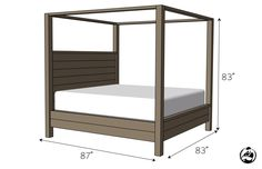 Diy Canopy Bed Frame Canopy Canopy Bed King Size Rogue Engineer For Diy Plans - Steval Decorations King Size Canopy Bed, Canopy Bed Frame, King Size Bed Frame, Diy Canopy, Canopy Beds, Living Furniture, Bedroom Furniture, Diy Furniture, Diy Bett