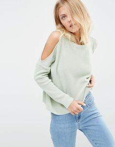 cfc054474f5d52 ASOS+Jumper+With+Cold+Shoulder+Detail Cold Shoulder Sweater