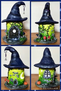 DAS Paper clay and soda bottle fairy/witches house