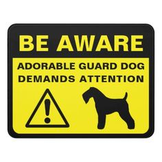 #Kerry Blue Terrier Funny Guard Dog Warning Door Sign - #cute #gifts #cool #giftideas #custom
