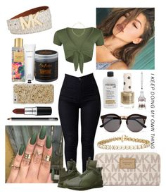 """""""Sparkle"""" by azariaaaaaa ❤ liked on Polyvore featuring Handle, Michael Kors, NARS Cosmetics, Puma, WearAll, Jules Smith, Topshop, Victoria's Secret, SheaMoisture and Rodin"""
