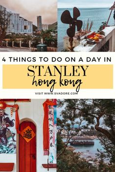 People are surprised there is more to do in Stanley, Hong Kong, then just the Market. Here's a list of my top 4 recommendations on what to do. Visiter Hong Kong, Stanley Hong Kong, Stanley Market, World Travel Guide, Travel Guides, Hong Kong Beaches, Stuff To Do, Things To Do, Travel Baby Showers