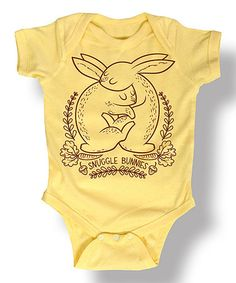 Loving this Banana 'Snuggle Bunnies' Bodysuit - Infant on #zulily! #zulilyfinds