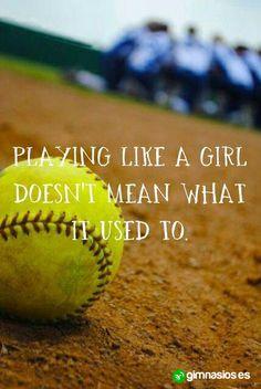 Jugar como una chica, ya no quiere decir lo mismo que antes.. #girls #chicas #fuerza #play #jugar #animo #motivacion
