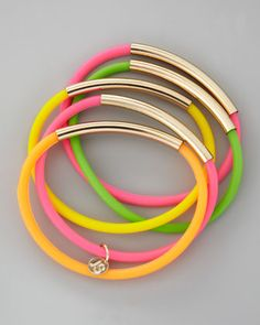 Jules Smith Set of 5 Neon Wrapped Up Tube Jellies - Neiman Marcus
