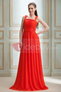 A-line Floor-length Nadya's Prom Dresses Cheap Red Square Neck : Tidebuy.com