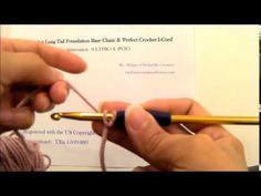 Crochet Long Tail Foundation Base Chain & Perfect Crochet I-Cord - YouTube