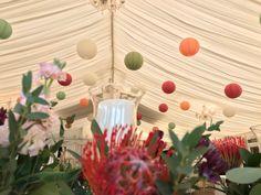 Wedding Marquee Decor 40 cream, sage green, burgundy, peach, Paper Lanterns Marquee Wedding, Paper Lanterns, Big Day, Sage, Burgundy, Peach, Table Decorations, Cream, Flowers