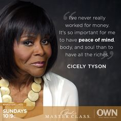 Cicely Tyson has played incredibly impactful characters on both the stage and screen. She shares the importance of choosing opportunities that make your skin tingle