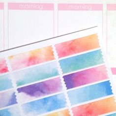 Hey, I found this really awesome Etsy listing at https://www.etsy.com/listing/229662467/washi-planner-sticker-set-watercolor-32