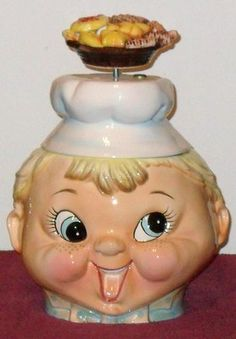 """VTG MUSICAL COOKIE CHEF COOKIE JAR BY LEFTON 93/4"""" T. ***EXCELLENT CONDITION*** (:"""