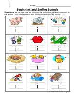 Beginning and Ending Sounds Worksheet - Have Fun Teaching