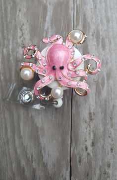 Octopus retractable badge reel,Steam punk,Patina Medical badge,RN badge,Steam Punk Brooch lanyard,Cute badge reel,ID Holder,Medical jewelry by AllThingsMish on Etsy