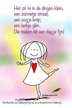 Het geluk zin in kleine dingen #Jabbertje