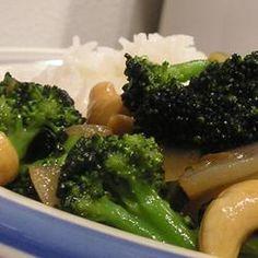 Broccoli with Garlic Butter and Cashews Allrecipes.com