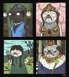 """""""Pugs Among Us"""" - By: Daniel Cole http://canada-starts-here.tumblr.com/"""