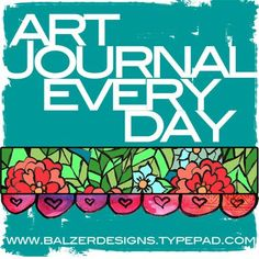 """An idea started by Julie Fei-Fan Balzer, """"For the past year I've been keeping a daily art journal. It's super low stress.  I don't do a finished art journal page every day.  That would be way too hard for me.  Instead I add a little something every day.  For me, the point is to open that art journal every single day and do something creative in it -- even if it's just for 10 minutes."""" Such a good idea! There is a group of journalers involved now. They even have a flickr site if you want to…"""