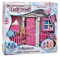 Opening Fairy Doors Pretend Playset, Pink - Luna -- Check out the image by visiting the link.