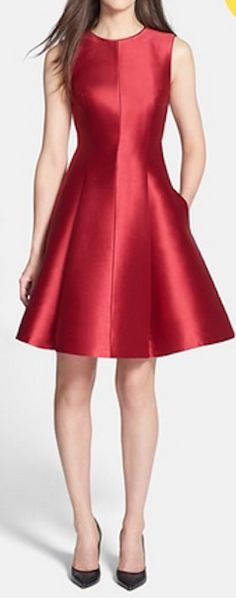 Gorgeous fit and flare dress http://rstyle.me/n/mqcnmnyg6
