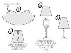 TAÇAJUR: Abajur com taça de cristal