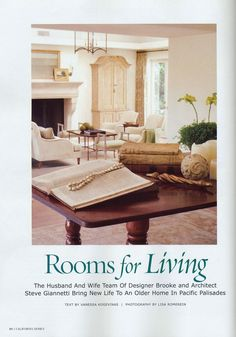 California Homes featured Giannetti...http://brookegiannetti.typepad.com/