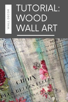 Diy Wood Wall, Diy Wall Art, Home Decor Wall Art, Deco Podge, Wallpaper Crafts, Wood Pallets, Pallet Wood, Painted Wood Walls, Iron Orchid Designs