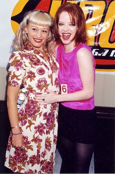 Gwen Stefani and Shirley Manson in 1996.