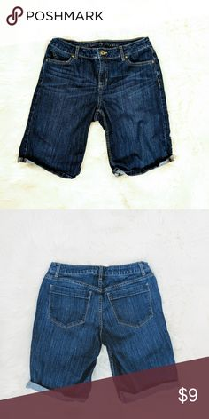 9ef36b85f Simply Vera Lowrise Bermuda Shorts Simply Vera Lowrise Dark Wash Denim  Rolled Cuff Bermuda Shorts