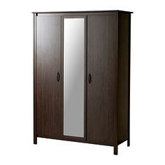 BRUSALI Wardrobe with 3 doors - IKEA