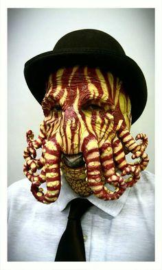 creative makeup work here! #Cthulhu #steampunk Mr. Sherloktopus by Alfonso Garcia