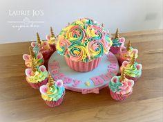 Giant unicorn cupcake
