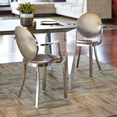 Shop InnerSpace Luxury Products  Round Back Dining Chair at ATG Stores. Browse our dining chairs, all with free shipping and best price guaranteed.