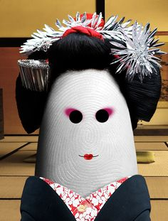 Geisha - Fingerprint Portraits by http://ditology.blogspot.com.ar/
