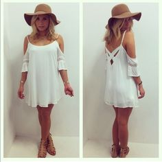 Cream Lace Romper Brand new. With tags. Boho chic. Only for the bohemian girls!!! Just in time for summer.  NO PP NO TRADE  Dresses