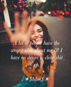 (((Can't Clear it))) Funy Quotes, True Love Quotes, Happy Quotes, Positive Quotes, Life Quotes, Qoutes, Girly Attitude Quotes, Girly Quotes, Situation Quotes