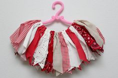 Country Girl Scrap Tutu - Ready to Ship - Fits 18 Months to 3T - Red Bandana, Red Gingham, White Eyelet. $25.00, via Etsy.