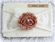 Vintage Style Cream Nude Stretchy Knit Headband by TheSnootiePig, $12.99