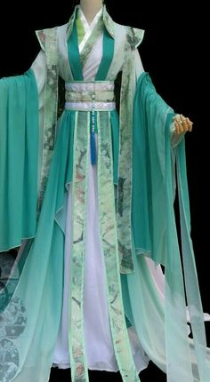 Romantic Ancient Chinese Costumes Complete Set for Women - # for . - Romantic Ancient Chinese Costumes Complete Set for Women - Beautiful Outfits, Cool Outfits, Mode Kimono, Outfit Essentials, Chinese Clothing, Chinese Dresses, Chinese Outfit, Chinese Gown, Fantasy Dress