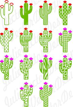Cute Cactus Collection SVG Cutting Files Cactus svg Cactus