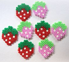 Kawaii Cute Hama/Pearler Strawberries  Pack of 10 by Pelemele, £5.00