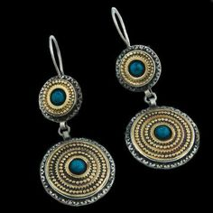 Antique Tribal Indian Silver Earrings - Rabari