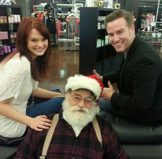 Santa made an appearance with Designer Ashley Gross and Master Stylist Dave DeWitt. www.onesalonlife.com