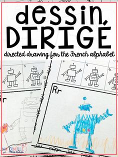 Directed drawing lessons for your students for every letter of the alphabet (in French). This fun activity helps students associate a word with each letter, to better remember letter sounds! It also helps with fine motor skills and increase their drawing confidence. Includes 2 images for both C and G (soft and hard sounds). Tout en français :)
