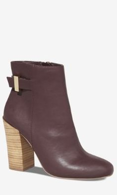 STACKED HEEL MIDI BOOT from EXPRESS