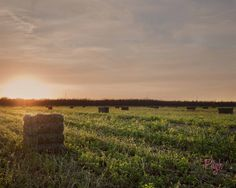 Alfalfa Hay Bales at Sunset - fine art photography by Jen Pugh Photgraphy. So peaceful!