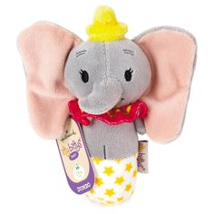 Your little one will love the sweet, jingling bell tucked inside this itty bittys® Dumbo plush rattle, perfectly sized for tiny hands. Dumbo Baby Shower, Baby Dumbo, Baby Rattle, Baby Disney, Baby Gear, Future Baby, Baby Items, Body, Kids Toys
