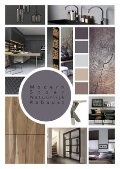 Modern industrial Interior Design Presentation, Interior Design Themes, Interior Design Boards, Interior Styling, Moodboard Interior Design, Portfolio Design Layouts, Layout Design, Mood Board Interior, Estilo Interior