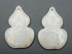 Two Jade Double Gourd-Form Pendants, Sold for $106,200