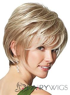 Special Cool Short Straight Blonde 10 Inch Human Hair Wigs